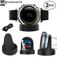 2 PCS Charging Cradle Smart Watch Charger Dock For Samsung Gear S2 S3 Smartwatch