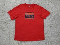 Nike The Human Race Shirt Men XL Track Marathon Running Red Yellow Swoosh
