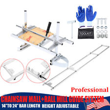 14 24 Chainsaw Mill And 9ft Milling Rail System Rail Mill Guide System Samger