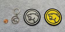 MERCURY COUGAR - KEYCHAIN - SILVER & YELLOW PATCHES - VINTAGE ORIGINAL PATCH