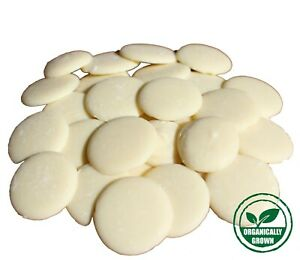 Belgian White Chocolate Buttons Organically Grown 35% Cocoa Fair Trade 100g-1kg