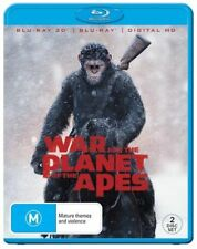 War For The Planet Of The Apes 3D + 2D (Blu-ray, 2017, 2-Disc Set) NEW & SEALED