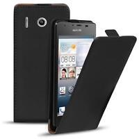 Flip Case Huawei Y300 Hülle Pu Leder Klapphülle Handy Tasche Cover Schwarz