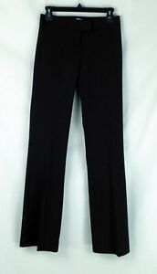 NWT Antonio Melani Maxine Black Straight Leg Womens Pants Cotton Blend Sz 0 $119