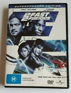 2 Fast 2 Furious Supercharged Edition - Paul Walker  - PAL DVD R4 VGC