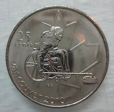 2007 CANADA 25¢ OLYMPIC WHEELCHAIR CURLING BRILLIANT UNCIRCULATED QUARTER