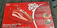 Dirt Devil Handheld Scorpion, Quick Flip, Vacuum Cleaner - Red, SD20005 NEW