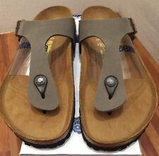 Birkenstock Gizeh 043391 size 36 L5-5.5 R Stone Color Birko-Flor Thong Sandals