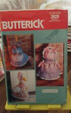 Oop Butterick 3829 Wendy Everett pig goose doorstop mouse broom cover NEW