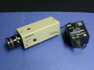 Sony SSC-C350 CCD-IRIS Color Video Camera with Lens and 12V DC Power Supply