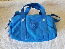 KIPLING DANIELLA BLUE JAY SATCHEL CROSSBODY BAG PURSE W/ KEYCHAIN NWT