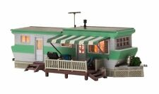 HO-SCALE GRILLIN' & CHILLIN' TRAILER BUILT & READY SCENE BY WOODLAND SCENICS