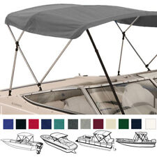 Deluxe Boat Pontoon Bimini Top with Boot / Rear Support Poles / 3 Bow / 4 Bow