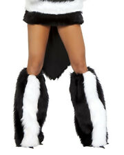 Skunk Legwarmers Furry Warmers Costume Accessory J Valentine 80085 Leg Warmers