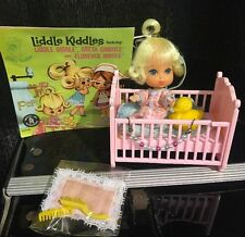 Vintage Liddle Kiddles Baby Doll Diddle Crib Little Duck Bed Complete Set Book