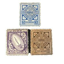 IRELAND, SCOTT # 70+72+75, 3p+5p+10p. VALUES  DEFINITIVE 1922-23 ISSUE MVLH