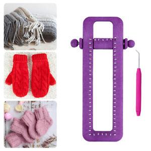 Adjustable Sock Loom Kit Knitting Socks Scarf Hat DIY Hand Craft ToolB.bu