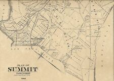 Summit NJ 1882  Maps with Businesses and Homeowners Names Shown