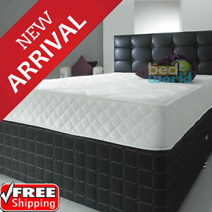 NEW Memory Foam Quilted Sprung Mattress Single 3ft,Double 4ft6 ,King 5ft Matress