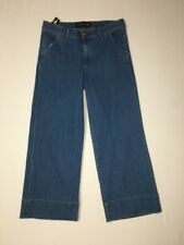 Express Jeans Wide Leg Crop Size 10 Womens High Rise Inseam 25 NWT