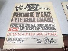 LA GUEULE OUVERTE N° 111 23 juin 1976 PENURIE D'EAU L ETE SERA CHAUD *