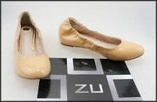 ZU WOMEN'S FLAT CASUAL COMFORT PATENT LEATHER BALLET SHOES SIZE 7 NEW