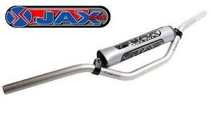 """JAX METALS MOTOCROSS ZX9 HANDLEBARS MINI STYLE 83SR SILVER 7/8"""" off road 22mm"""