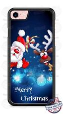 Santa Claus and Reindeer Christmas Phone Case Cover for iPhone Samsung LG etc
