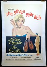 The Seven Year Itch Marilyn Monroe Original Movie Poster One Sheet Linen Backed