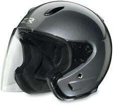Z1R ACE 3/4 DOT HELMET WITH FACE SHIELD DARK SILVER LARGE L