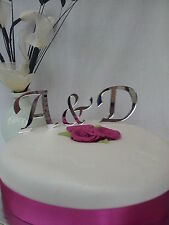 WEDDING CAKE TOPPER,acrylic mirror,3 piece set,PERSONALISED,monogram,STUNNING!