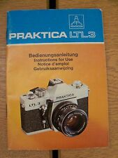 Instructions CAMERA PRAKTICA LTL 3 - English German French & Dutch CD/Email