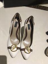 Etro White & Brown Pumps Heels SZ 40