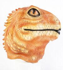 Deluxe Orange Gecko Mask Latex Lizard Ghecko Fancy dress Costume Animal Zoo Pet