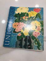 Vntg 1965 UNICEF Calendar Planner Watercolor Floral Vintage