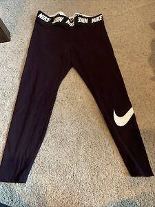 Nike 1x Purple Womens Athletic Leggings