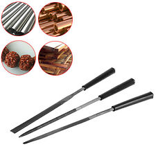 New 3pc Wood Carving Craft Metal Diamond Needle File Set Tools for Ceramic Glass