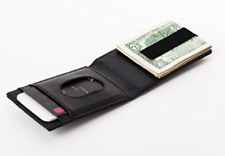 OCD RFID-Shielded Leather Wallet With Stainless Steel Money Clip *Secure *Slim