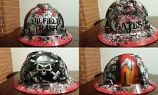 DETAILED Oilfield Trash #2 Hard Hat with your name on back