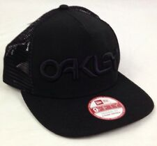 Oakley Factory Pilot Trucker Hat Cap New Era 9Fifty Snapback Black 911513-01K