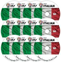 Learn to speak ITALIAN - Complete Language Training Course on 12 AUDIO CD's