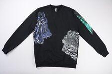 Silent Damir Doma Black Gemstone Print Black Sweatshirt M Medium $318