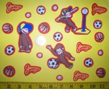 SaleINew! Cool! Curious George Iron-on Fabric Appliques ~ Iron ons