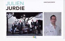 CYCLISME carte directeur sportif JULIEN JURDIE équipe AG2R prévoyance 2011