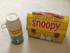 Snoopy Charlie Brown lunch box 1968 United Feature Syndicate good PEANUTS