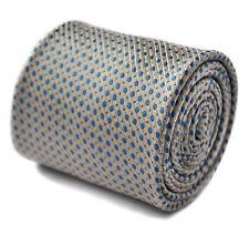 Frederick THOMAS IVORY PANNA E BLU PIN SPOT Uomo matrimonio cravatta ft1600