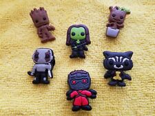 GUARDIANS OF THE GALAXY shoe charms/cake toppers!! Lot of 6! FAST USA SHIPPING!!