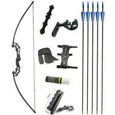 53'' Straight Bow 20-50lbs Archery Takedown Recurve Bow Target Shooting Hunting