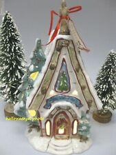 Blue Sky Clayworks Christmas WOODLAND CHURCH Chapel Holiday Goldminc Tealight