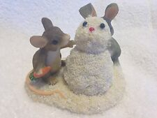 Charming Tails by Fitz and Floyd Building a Snowbunny Figurine 87/692